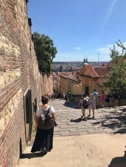 C walking down from Castel in Prague